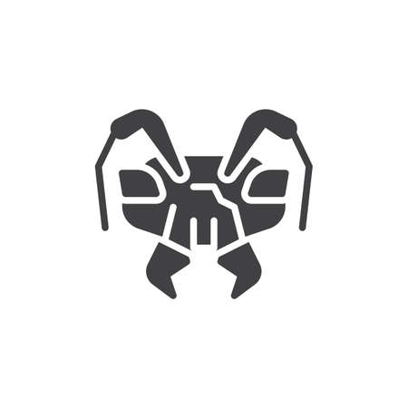 Emmet head vector icon. filled flat sign for mobile concept and web design. Pismire ant animal glyph icon. insect symbol, logo illustration. Pixel perfect vector graphics
