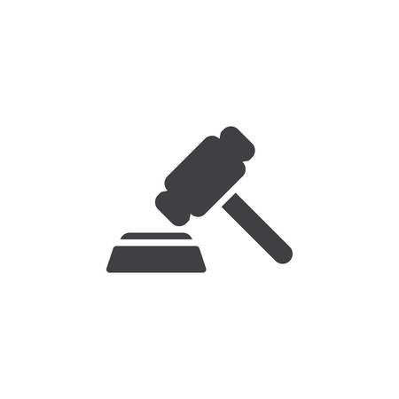 Judge gavel vector icon. filled flat sign for mobile concept and web design. Auction hammer glyph icon. Symbol, logo illustration. Pixel perfect vector graphics