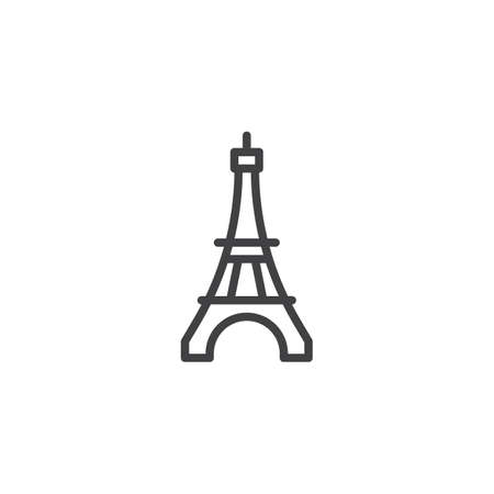 Eiffel Tower line icon. linear style sign for mobile concept and web design. Paris travel outline vector icon. Symbol, logo illustration. Pixel perfect vector graphics Illustration