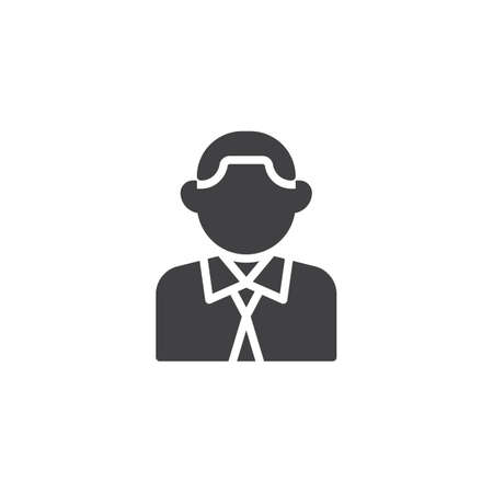 Businessman avatar vector icon. filled flat sign for mobile concept and web design. Business person glyph icon. Faceless people avatar symbol, logo illustration. Pixel perfect vector graphics Illustration
