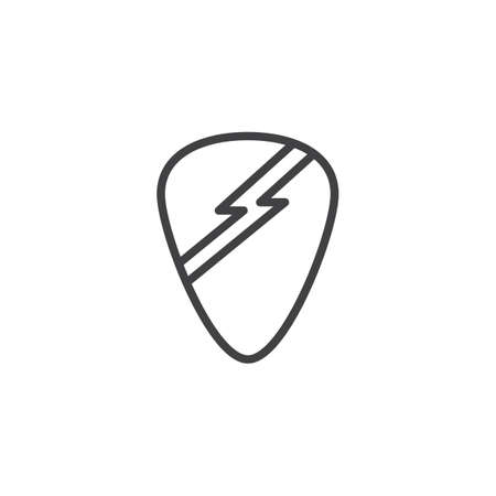 Guitar pick line icon. linear style sign for mobile concept and web design. outline vector icon. Symbol, logo illustration. Pixel perfect vector graphics
