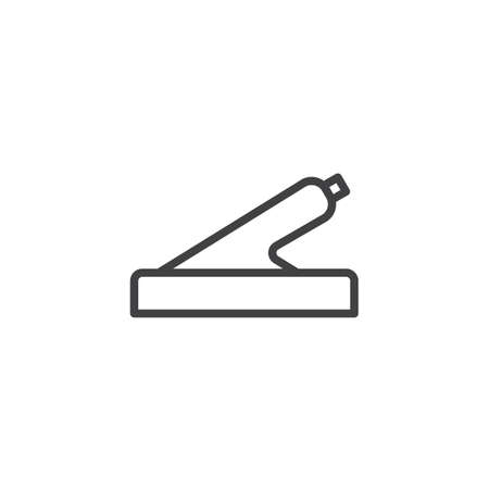 Car hand brake line icon. linear style sign for mobile concept and web design. Handbrake outline vector icon. Symbol, logo illustration. Pixel perfect vector graphics Logo