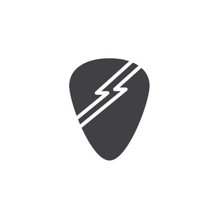 Guitar pick vector icon. filled flat sign for mobile concept and web design. glyph icon. Symbol, logo illustration. Pixel perfect vector graphics Illustration