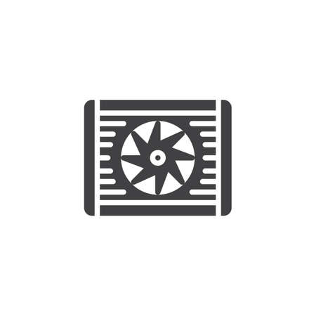 Car radiator vector icon. filled flat sign for mobile concept and web design. Radiator cooling system glyph icon. Symbol, logo illustration. Pixel perfect vector graphics