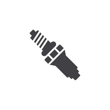 Car Spark Plug vector icon. filled flat sign for mobile concept and web design. Auto spark plug glyph icon. Symbol, logo illustration. Pixel perfect vector graphics Illustration