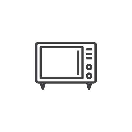 Microwave Electric Oven line icon. linear style sign for mobile concept and web design. Microwave oven outline vector icon. Kitchen appliances symbol, logo illustration. Pixel perfect vector graphics