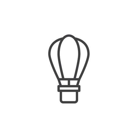Hot air balloon line icon. linear style sign for mobile concept and web design. Air balloon outline vector icon. Dopshipping symbol, logo illustration. Pixel perfect vector graphics Ilustração