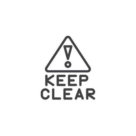 Halten Sie das Symbol für die Ausrufezeichen-Linie klar. Lineares Zeichen für mobiles Konzept und Webdesign. Umriss-Vektor-Symbol. Informationspflichtsymbol, Logoillustration. Pixelperfekte Vektorgrafiken