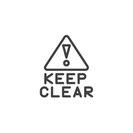 Keep clear exclamation point line icon. linear style sign for mobile concept and web design. outline vector icon. Information mandatory symbol, logo illustration. Pixel perfect vector graphics