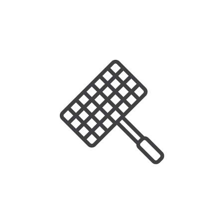 Barbecue, grill steel grid line icon. linear style sign for mobile concept and web design. Wire rack for BBQ outline vector icon. Symbol, logo illustration. Pixel perfect vector graphics Standard-Bild - 120860472