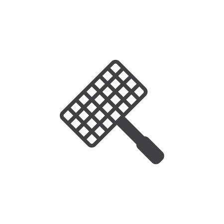 Barbecue, grill steel grid vector icon. filled flat sign for mobile concept and web design. Wire rack for BBQ glyph icon. Symbol, logo illustration. Pixel perfect vector graphics Ilustrace
