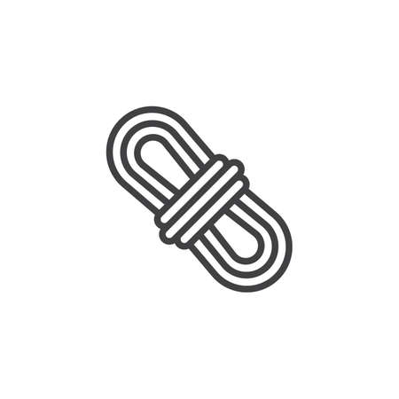 Climber rope line icon. linear style sign for mobile concept and web design. Camping rope outline vector icon. Symbol, logo illustration. Pixel perfect vector graphics
