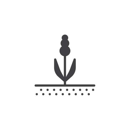 Spring flower vector icon. filled flat sign for mobile concept and web design. Growing plant glyph icon. Agriculture symbol, logo illustration. Pixel perfect vector graphics