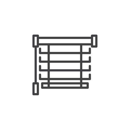 Window blinds line icon. Louvers linear style sign for mobile concept and web design. Jalousie outline vector icon. Symbol, logo illustration. Pixel perfect vector graphics Illusztráció