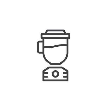 Blender line icon. Electric mixer linear style sign for mobile concept and web design. Juicer outline vector icon. Symbol, logo illustration. Pixel perfect vector graphics