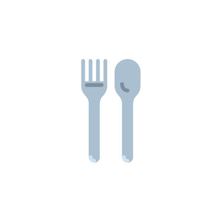 Kitchen cutlery flat icon, vector sign, Spoon and fork colorful pictogram isolated on white. Symbol, logo illustration. Flat style design 写真素材 - 121926548