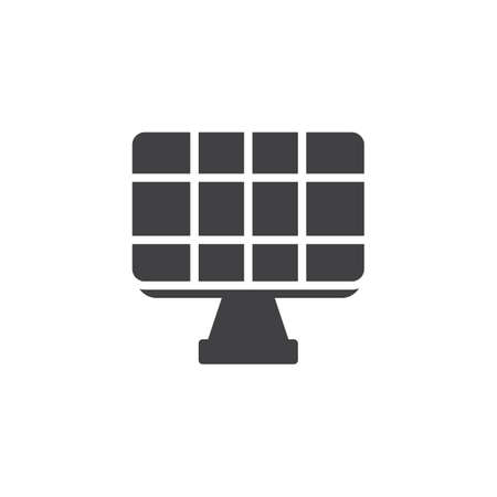 Solar panel vector icon. filled flat sign for mobile concept and web design. Alternative sun energy glyph icon. Symbol, logo illustration. Pixel perfect vector graphics