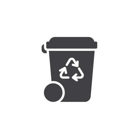 Recycle bin vector icon. filled flat sign for mobile concept and web design. Trash bin glyph icon. Ecology symbol, logo illustration. Pixel perfect vector graphics