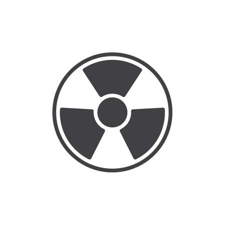 Radiation vector icon. filled flat sign for mobile concept and web design. Nuclear Hazard glyph icon. Symbol, logo illustration. Pixel perfect vector graphics Imagens - 122091316