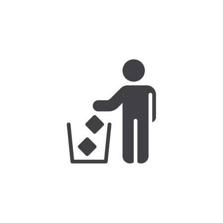 Do not litter vector icon. filled flat sign for mobile concept and web design. Trash bin area glyph icon. Symbol, logo illustration. Pixel perfect vector graphics Illustration
