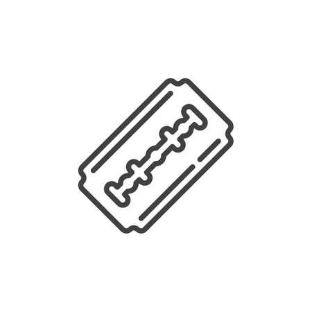Blade razor line icon. linear style sign for mobile concept and web design. Shaving razor blade outline vector icon. Symbol, logo illustration. Pixel perfect vector graphics