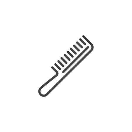 Hair comb line icon. linear style sign for mobile concept and web design. Barber comb outline vector icon. Symbol, logo illustration. Pixel perfect vector graphics