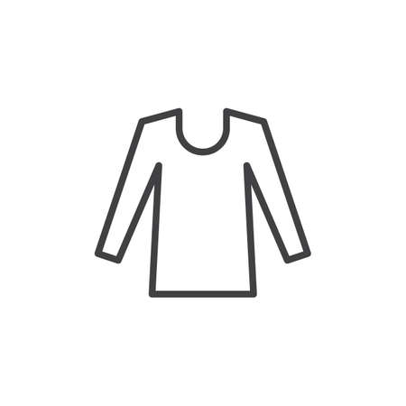 Long sleeve shirt line icon. linear style sign for mobile concept and web design. T-shirt outline vector icon. Symbol, logo illustration. Pixel perfect vector graphics