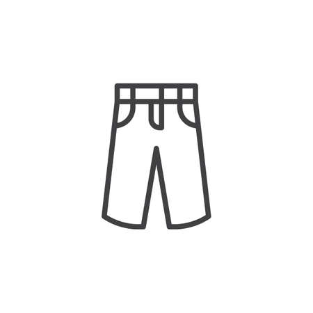 Mens pants line icon. linear style sign for mobile concept and web design. Summer trousers, jeans outline vector icon. Symbol, logo illustration. Pixel perfect vector graphics