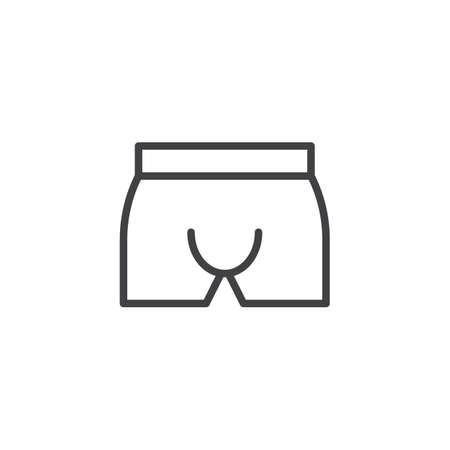 Briefs underpants line icon. linear style sign for mobile concept and web design. Mens Underwear outline vector icon. Symbol, logo illustration. Pixel perfect vector graphics