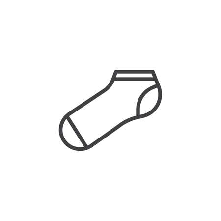 Sport socks line icon. linear style sign for mobile concept and web design. Short socks outline vector icon. Symbol, logo illustration. Pixel perfect vector graphics