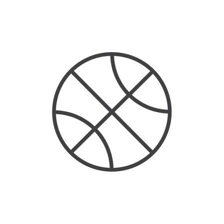Basketball ball line icon. linear style sign for mobile concept and web design. Sports equipment outline vector icon. Basketball sport symbol, logo illustration. Pixel perfect vector graphics 일러스트