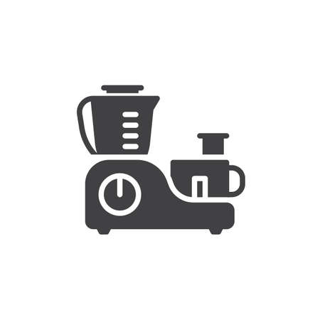 Food processor vector icon. filled flat sign for mobile concept and web design. Electric mixer and blender machine glyph icon. Symbol, logo illustration. Pixel perfect vector graphics