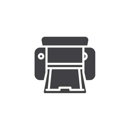 Printer vector icon. filled flat sign for mobile concept and web design. Copier printer glyph icon. Symbol, logo illustration. Pixel perfect vector graphics