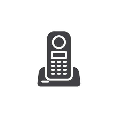 Wireless home telephone vector icon. filled flat sign for mobile concept and web design. Cordless Phone glyph icon. Symbol, logo illustration. Pixel perfect vector graphics