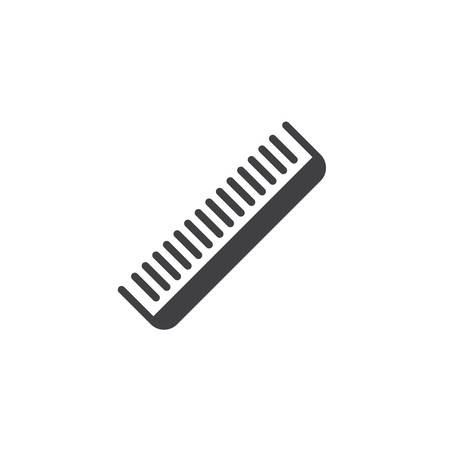 Barber comb vector icon. filled flat sign for mobile concept and web design. Hair comb glyph icon. Symbol, logo illustration. Pixel perfect vector graphics