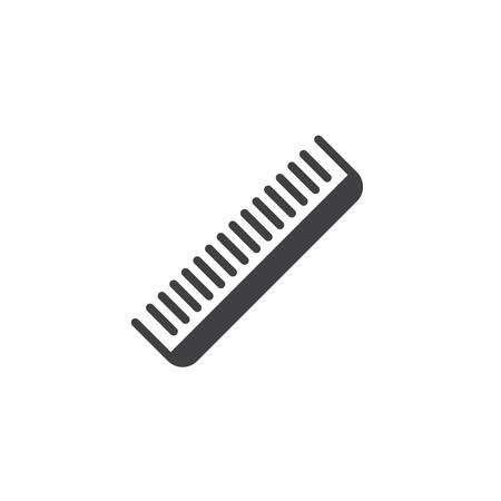 Fryzjer grzebień wektor ikona. wypełniony znak płaski dla koncepcji mobilnej i projektowania stron internetowych. Glif grzebień do włosów. Symbol, ilustracja logo. Doskonała grafika wektorowa w pikselach