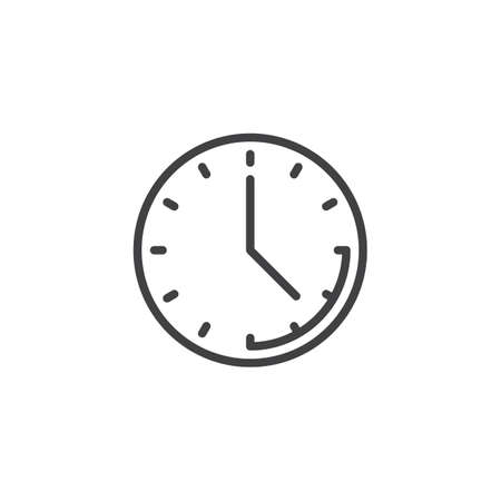 Clock time line icon. linear style sign for mobile concept and web design. Office clock outline vector icon. Deadline symbol, logo illustration. Pixel perfect vector graphics Illusztráció