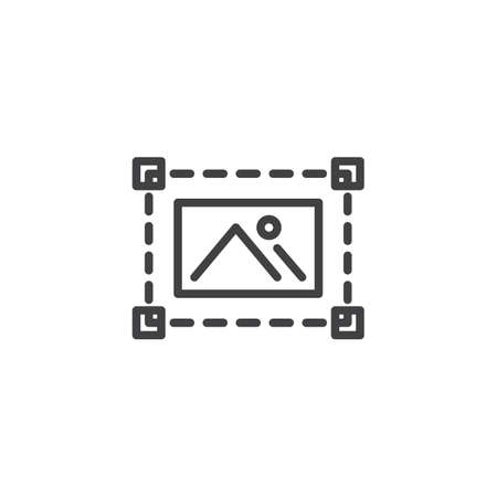 Edit photo line icon. linear style sign for mobile concept and web design. Photo editing outline vector icon. Symbol, logo illustration. Pixel perfect vector graphics