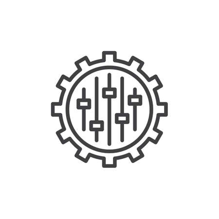 Campaign tweaks settings line icon. linear style sign for mobile concept and web design. Settings, tweaks outline vector icon. Symbol, logo illustration. Pixel perfect vector graphics