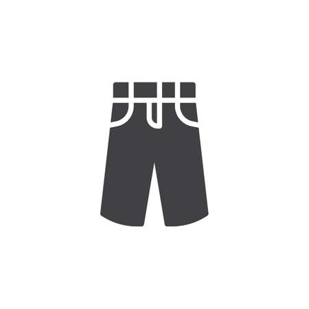 Mens pants vector icon. filled flat sign for mobile concept and web design. Summer trousers, jeans glyph icon. Symbol, logo illustration. Pixel perfect vector graphics