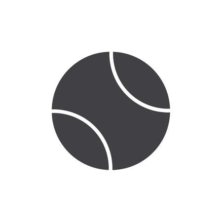 Tennis ball vector icon. filled flat sign for mobile concept and web design. Sport ball glyph icon. Symbol, logo illustration. Pixel perfect vector graphics Çizim