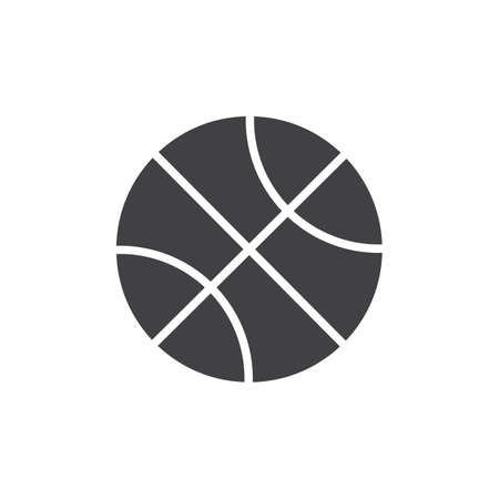 Basketball ball vector icon. filled flat sign for mobile concept and web design. Sports equipment glyph icon. Basketball sport symbol, logo illustration. Pixel perfect vector graphics