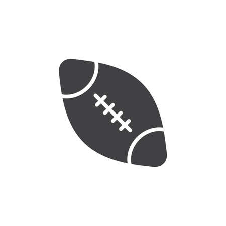 American football ball vector icon. filled flat sign for mobile concept and web design. Rugby ball glyph icon. Symbol, logo illustration. Pixel perfect vector graphics