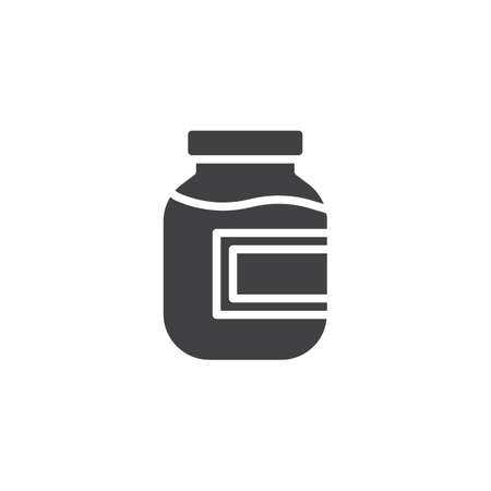 Compote, fruit juice vector icon. filled flat sign for mobile concept and web design. Stewed fruit jar glyph icon. Symbol, logo illustration. Pixel perfect vector graphics