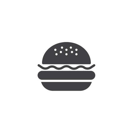 Hamburger vector icon. Burger filled flat sign for mobile concept and web design. Cheeseburger glyph icon. Symbol, logo illustration. Pixel perfect vector graphics