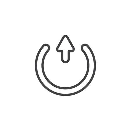 Transfer arrow line icon. linear style sign for mobile concept and web design. Upload arrow, exit outline vector icon. Symbol, logo illustration. Vector graphics Illustration