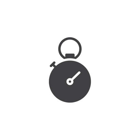 Sport stopwatch vector icon. filled flat sign for mobile concept and web design. Stopwatch timer glyph icon. Time symbol, logo illustration. Pixel perfect vector graphics