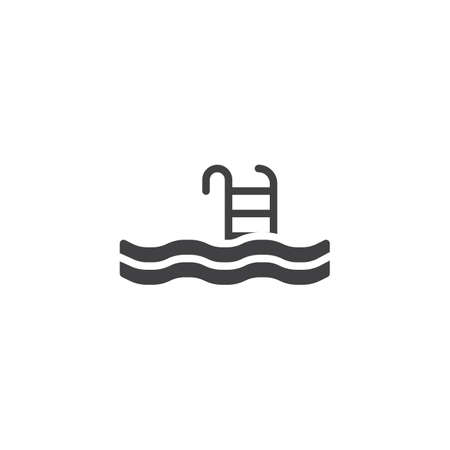 Swimming Pool vector icon. filled flat sign for mobile concept and web design. Pool ladder swim glyph icon. Symbol, logo illustration. Pixel perfect vector graphics Stock fotó - 122994077