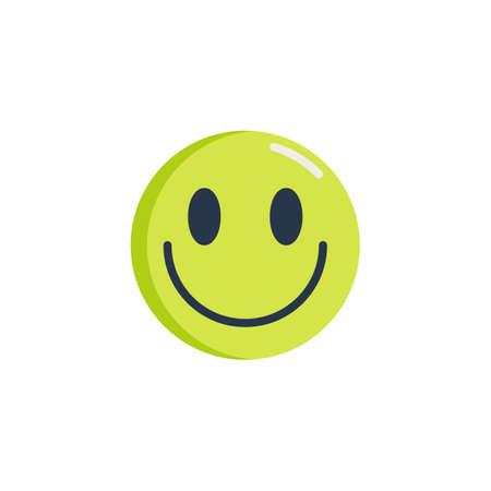 Happy face emoticon flat icon, Slightly Smiling Face emoji vector sign, colorful pictogram isolated on white. Symbol, logo illustration. Flat style design