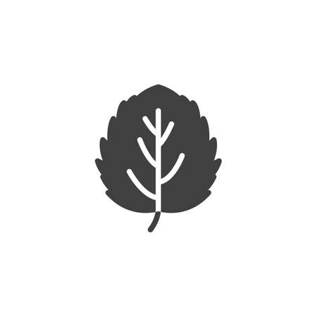 Aspen leaf vector icon. filled flat sign for mobile concept and web design. Leaf of aspen tree glyph icon. Symbol illustration. Vector graphics